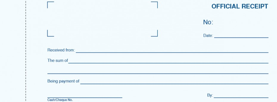 General Portfolio Categories – Official Receipt
